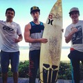 Welsey and his surf buddies