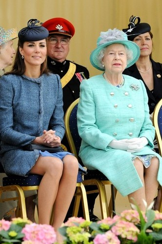Will and Kate join the Queen in Nottingham