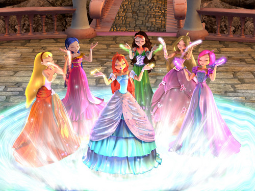 Winx Club Movie wallpaper possibly with a bridesmaid called Winx Screencaps