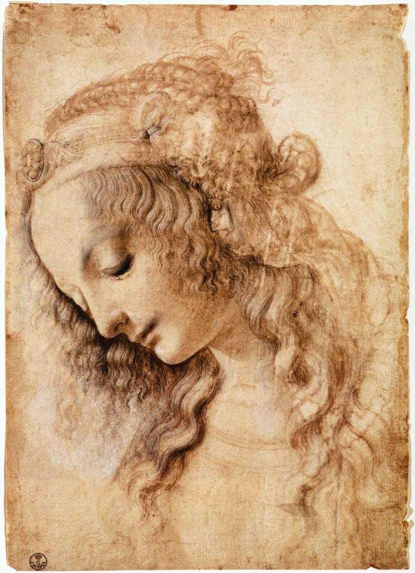 Woman's Head 의해 Leonardo, c.1473