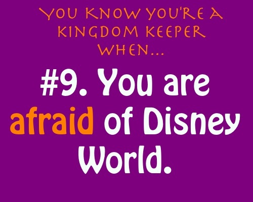 Du know Du are a kingdom keeper if...