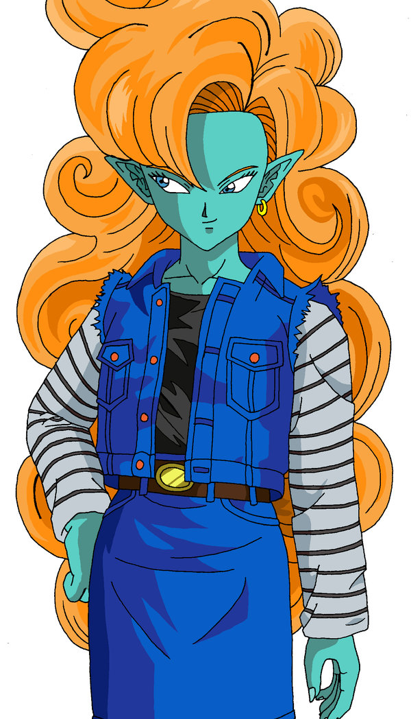 Zangya with Android 18's clothes