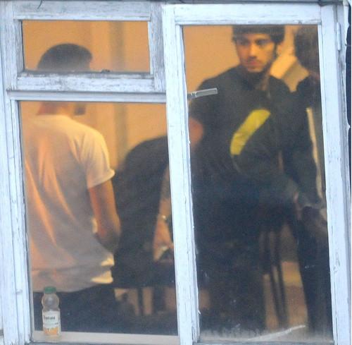 Zayn Malik arrived at the recording studio