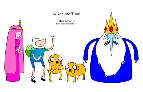 Adventure Time With Finn and Jake wolpeyper probably containing anime titled adventure time characters