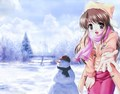 Anime winter girl