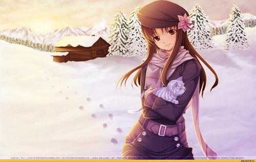 animé winter girl