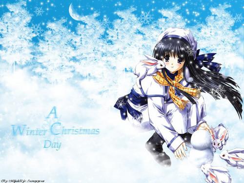Аниме winter girl
