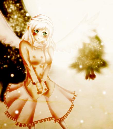 Anime winter girl