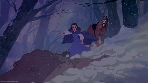 Belle and Pocahontas wolpeyper probably containing an igloo entitled belle