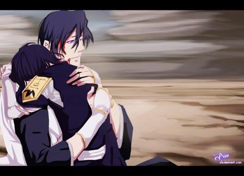 anime ya Bleach karatasi la kupamba ukuta titled byakuya & rukia