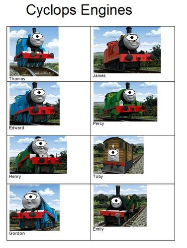 Thomas the Tank Engine Hintergrund entitled cyclops