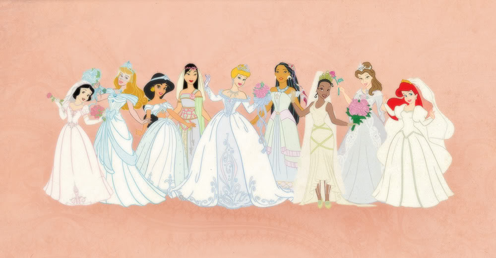 Belle disney inspired wedding dresses