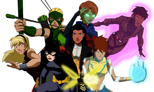 La Ligue des Justiciers – Nouvelle Génération fond d'écran with animé entitled girls of young justice