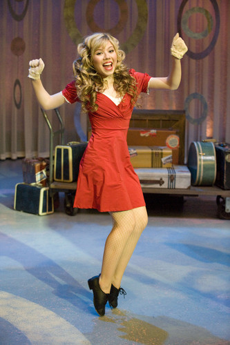 Jennette McCurdy achtergrond possibly with tights titled iCarly