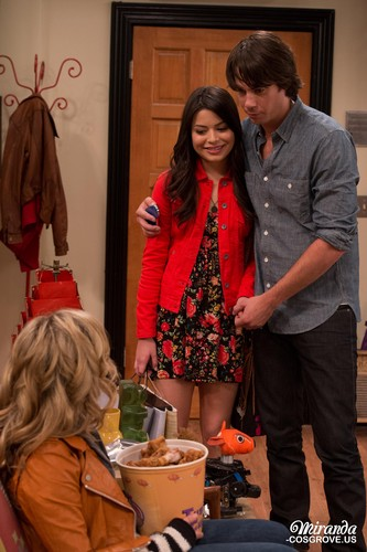iCarly wolpeyper possibly with an outerwear, a box coat, and a well dressed person titled iGoodbye