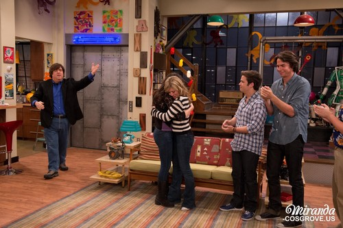 iCarly wallpaper possibly with a street, a warehouse, and a sign titled iGoodbye