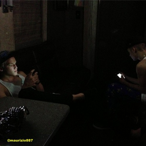 Justin Bieber wallpaper possibly containing a sign titled justin  & cody tinker iphone