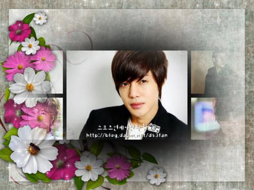 Kim Hyun Joong wallpaper with a bouquet titled kim hyun joong