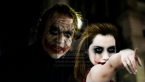 愛 joker and harley