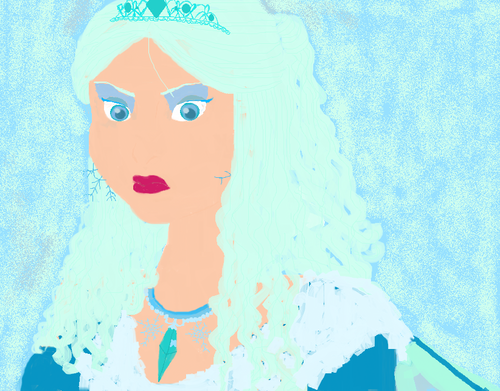 My painting of what Elsa the Snow queen would look like