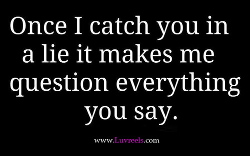 once u lie