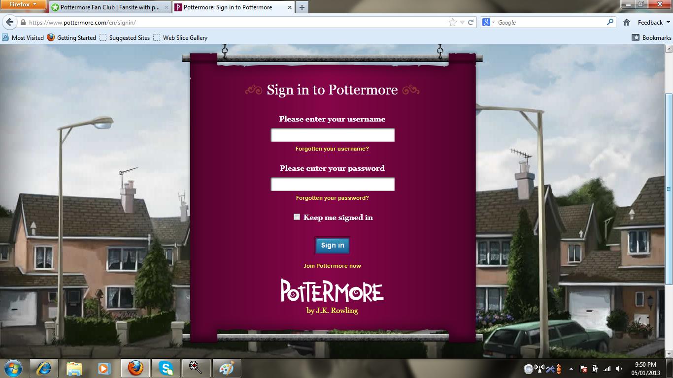 pottermore how to delete account