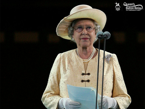 Queen Elizabeth II wallpaper with a boater and a fedora titled queen