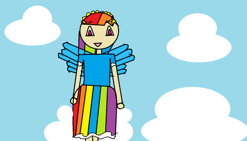 regenbogen dash's dress