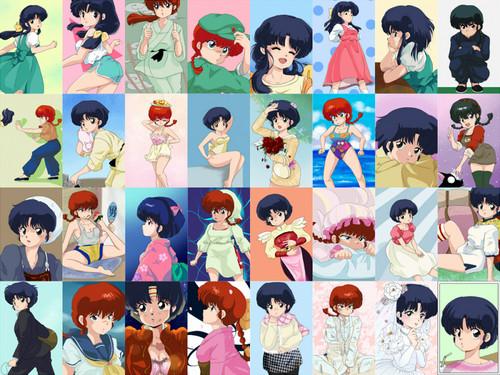 ranma, akane, and ranma-chan (image clusters)