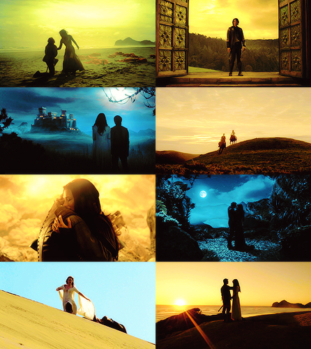 richard and kahlan + silhouettes