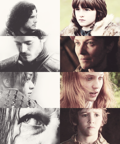 the starks + up and close