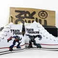 Transformers hand painted casual shoes
