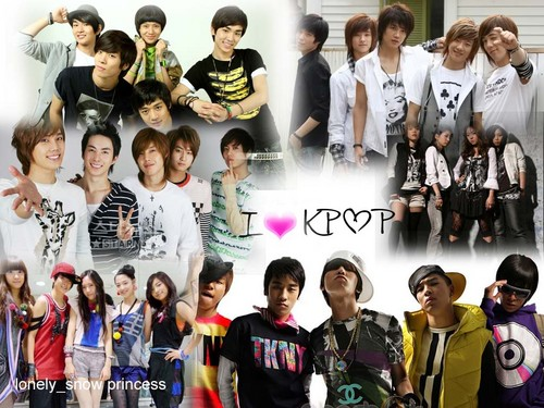 kpop 4ever wallpaper possibly with a fountain entitled :D