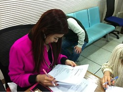 Tiffany Hwang wallpaper probably containing a document, a newspaper, and a sign entitled 130115 TaeNy @ ShimShimTaPa Preview