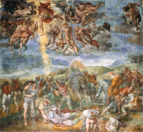 1543-1545 Michelangelo works on the CONVERSION OF ST. PAUL fresco in the the Pauline Chapel.
