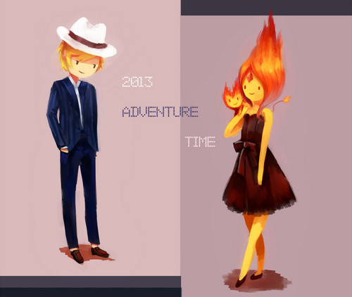 Adventure Time With Finn and Jake wallpaper possibly with a fedora, a well dressed person, and a campaign hat entitled 2013 finn and fp