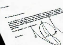 A Business Letter Signed 의해 Michael