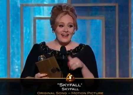 Adele WINS BEST ORIGINAL SONG FOR 'SKYFALL' AT THE 2013 GOLDEN GLOBES
