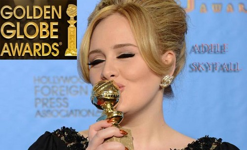 Adele Accepted the 2013 Golden Globes Awards for her song Skyfall