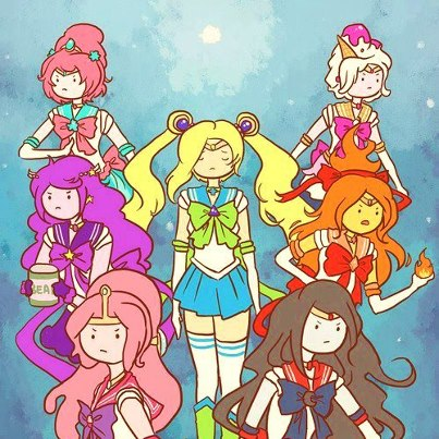 Adventure Time With Finn and Jake wallpaper with anime titled Adventure Time Girls
