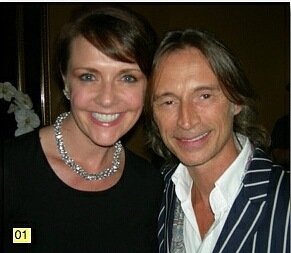 Amanda Tapping with Robert Carlyle