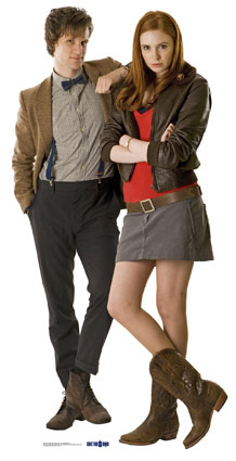 Amy Pond پیپر وال with a hip boot, a well dressed person, and an outerwear called Amy and The Doctor ♥