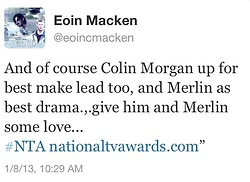 And Eoin Chimes In...Oh Yes, the Boys They Are Plotting lol
