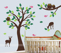 Animals On the Prairie Deer Birds Owl Wall Sticker - home-decorating photo