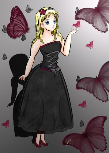 ऐनीमे girl dress