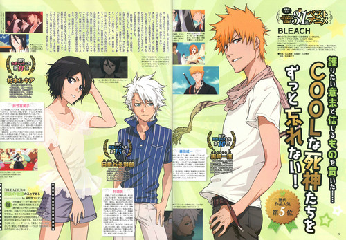 Bleach Anime wallpaper containing anime titled Animedia Magazine