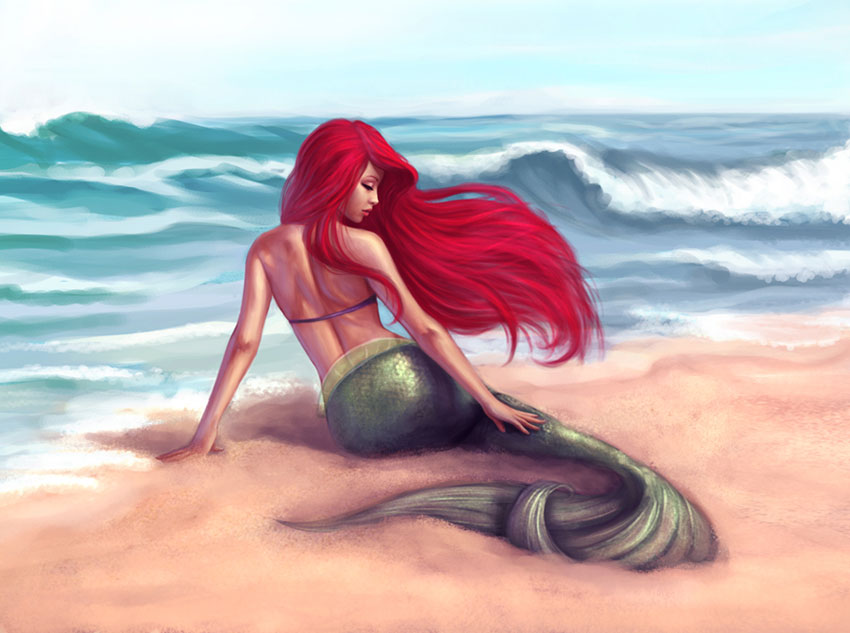 Ariel on the Shore