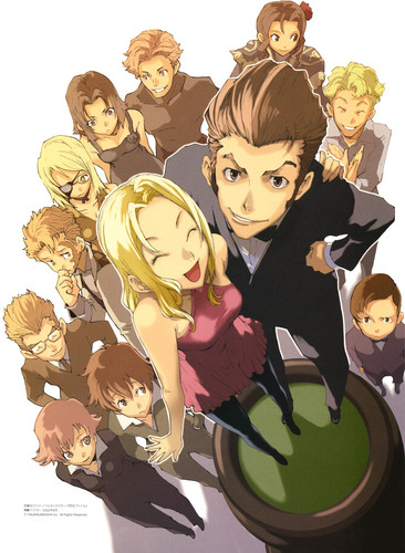 Baccano! wallpaper probably containing anime entitled Baccano Official Pictures by Enami Katsumi