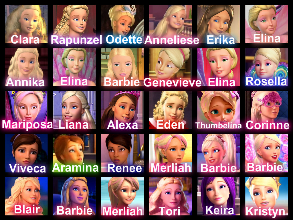 Barbie films Characters
