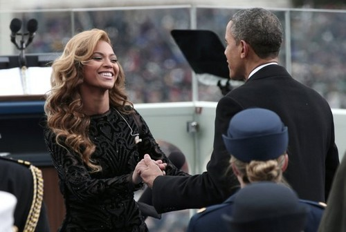 Beyonce And President re-elect Barack Obama